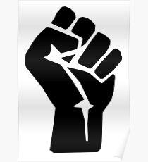 FIST, Black, Rebellion, Strength, Power, Grasp, Grab, Hold, Tough, MMA Poster