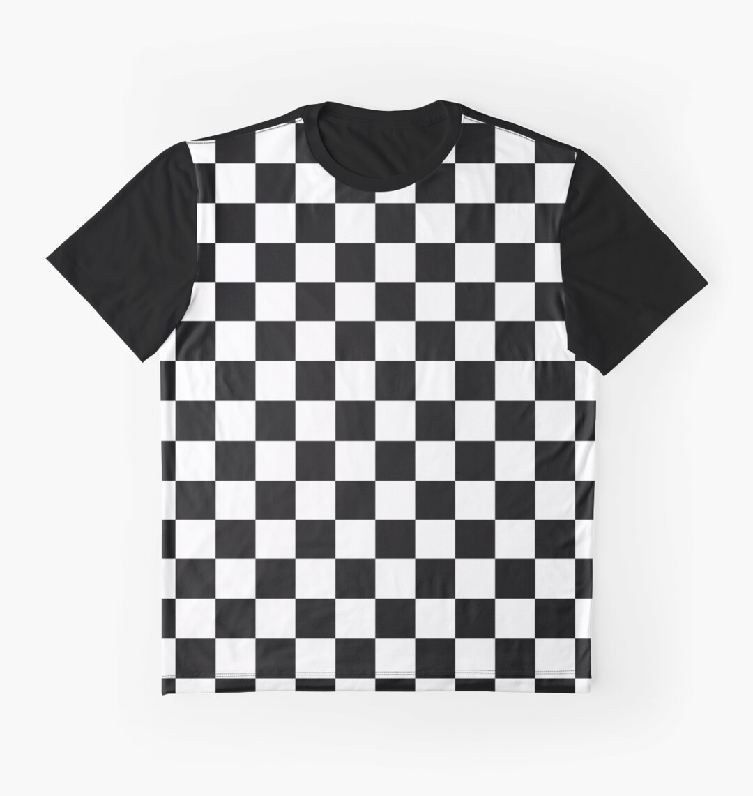 Design t shirt motor - Checkered Flag Chequered Flag Motor Sport Checkerboard Pattern Win Winner Racing Cars Race Finish Line Black Graphic T Shirts