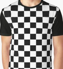 Checkered Flag, Chequered Flag, Motor Sport, Checkerboard, Pattern, WIN, WINNER,  Racing Cars, Race, Finish line, BLACK Graphic T-Shirt