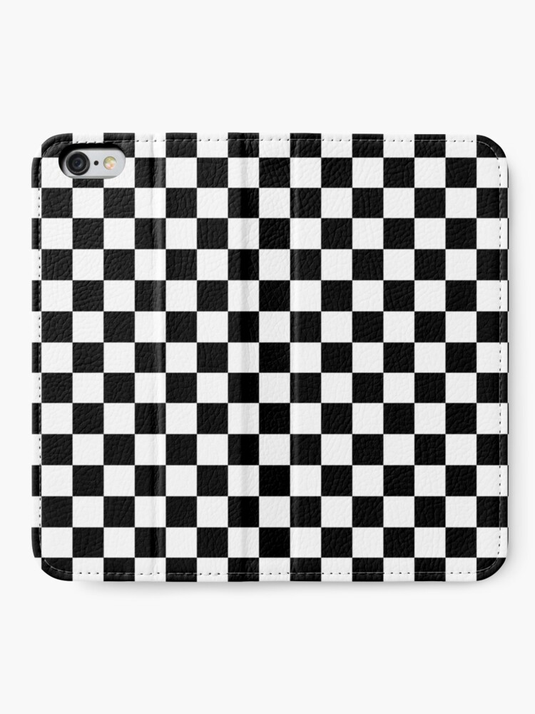 Alternate view of Checkered Flag, Chequered Flag, Motor Sport, Checkerboard, Pattern, WIN, WINNER,  Racing Cars, Race, Finish line, BLACK iPhone Wallet