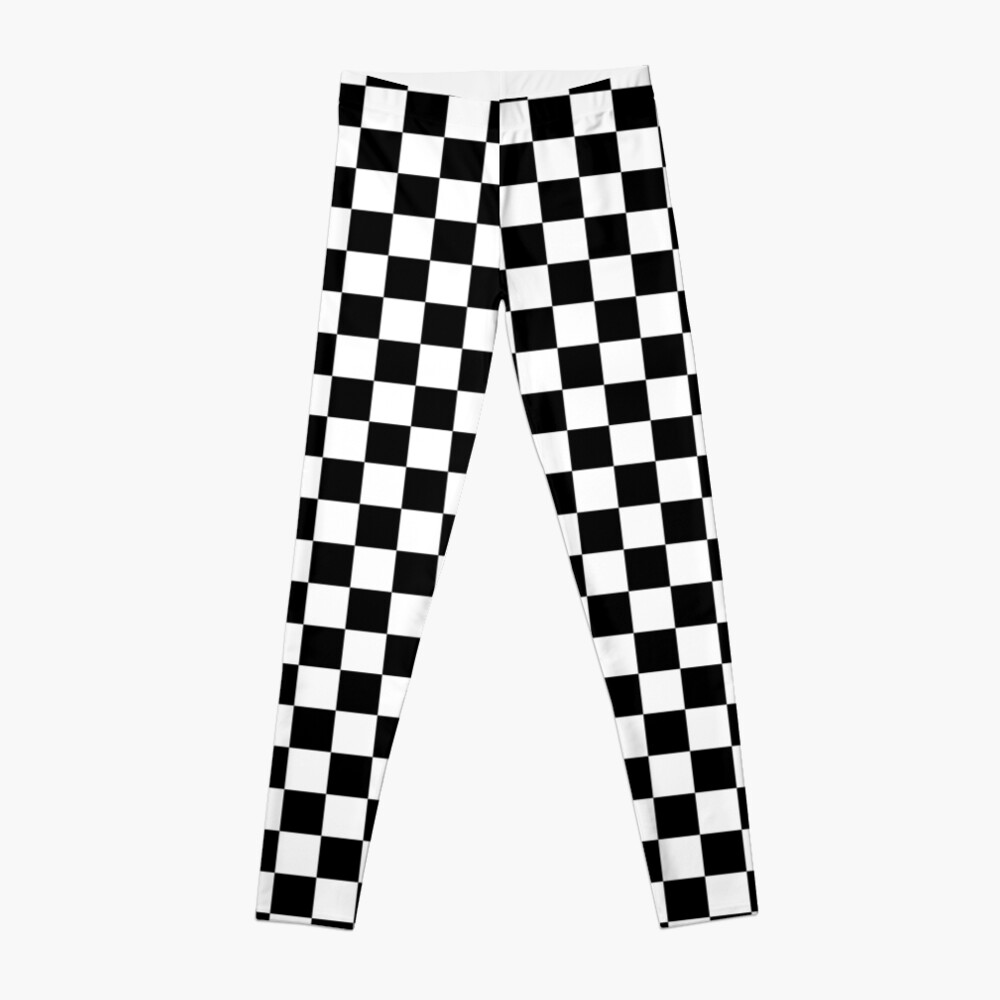 Checkered Flag, Chequered Flag, Motor Sport, Checkerboard, Pattern, WIN, WINNER,  Racing Cars, Race, Finish line, BLACK Leggings