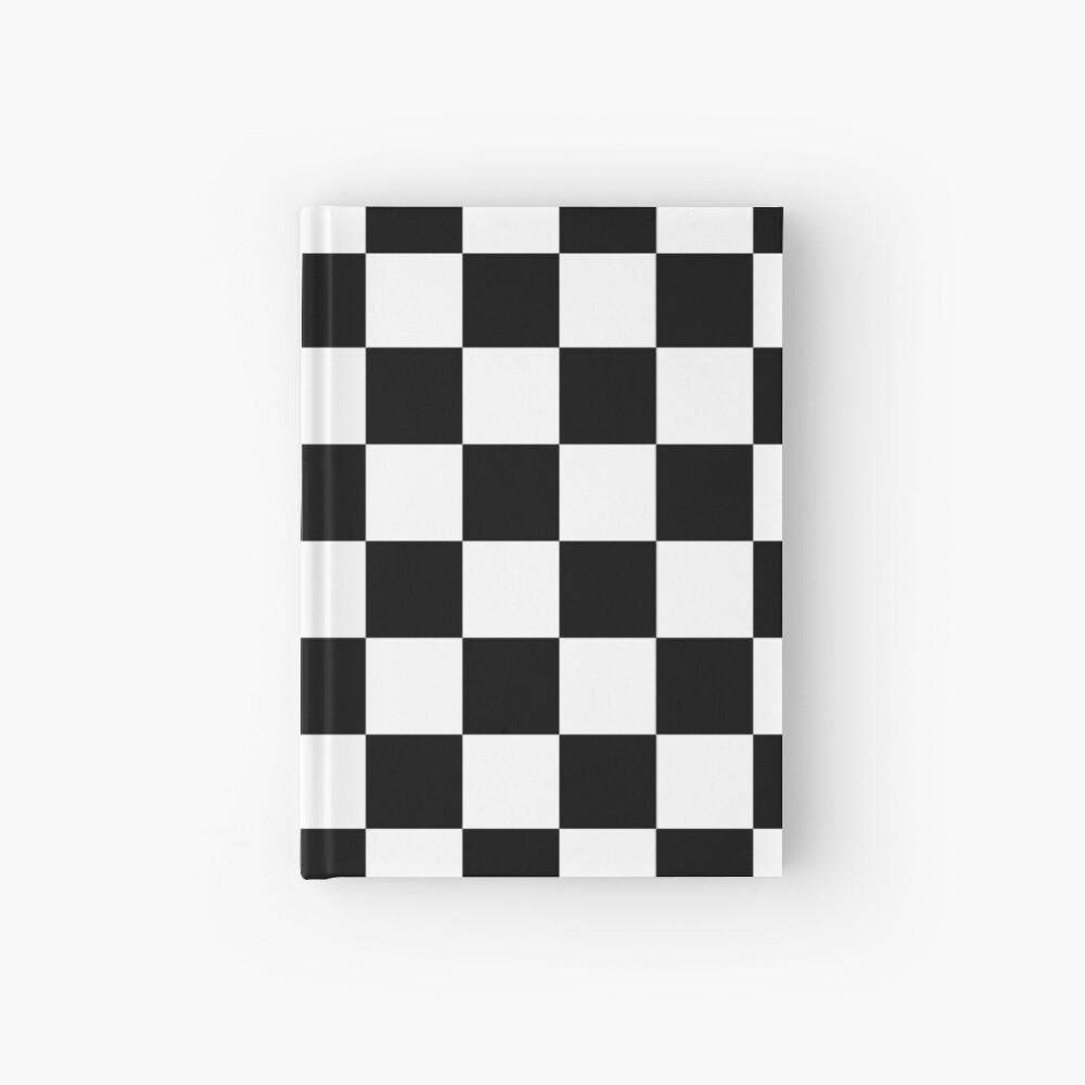 Checkered Flag, Chequered Flag, Motor Sport, Checkerboard, Pattern, WIN, WINNER,  Racing Cars, Race, Finish line, BLACK Hardcover Journal