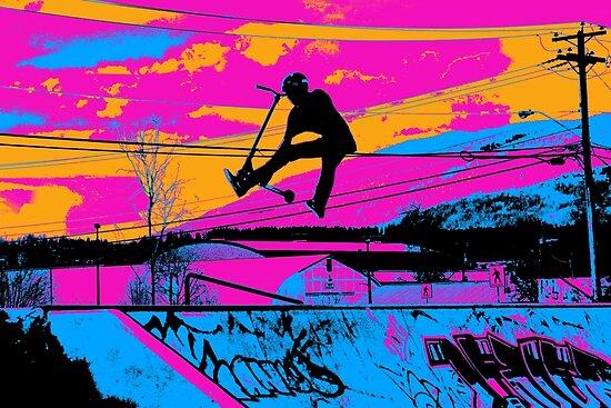 Lass uns fliegen! - Stunt Scooter von NaturePrints