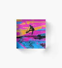 Let's Fly! - Stunt Scooter Acrylic Block