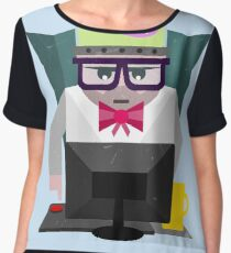 web developer illustration Women's Chiffon Top
