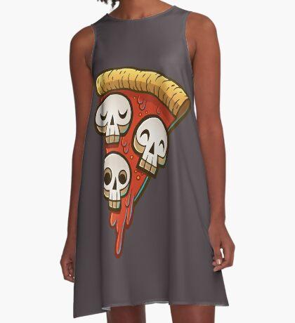 Pizza Skullgioni A-Line Dress