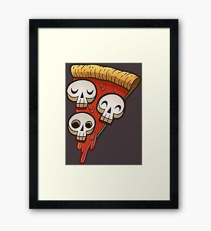 Pizza Skullgioni Framed Print