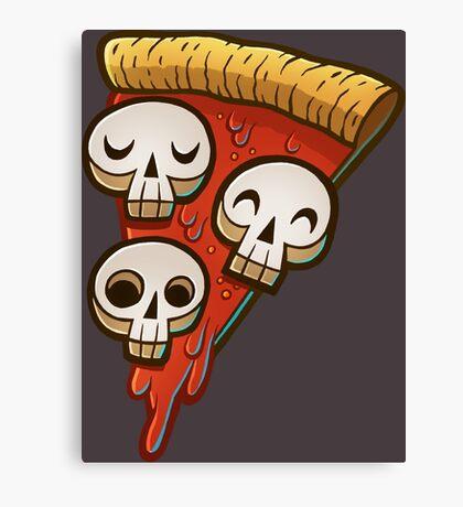 Pizza Skullgioni Canvas Print