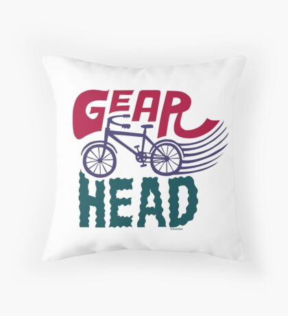Gearhead - colored Throw Pillow