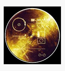 VOYAGER, Space, Golden Record, Spacecraft, Message to Aliens Photographic Print