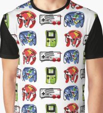 Classic Nintendo Controllers Graphic T-Shirt