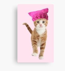 Resistance Kitty Canvas Print