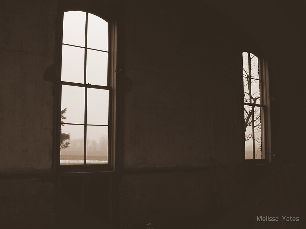 Old School House - windows #2 by Melissa  Ousley