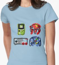 Classic Nintendo Controllers Womens Fitted T-Shirt