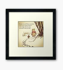 You Are BRAVE Framed Print