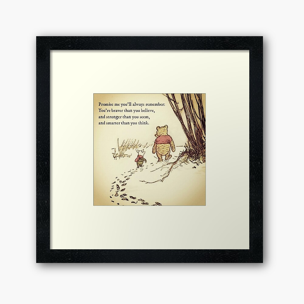 You Are BRAVE Framed Art Print