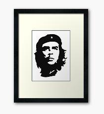 CHE, Che Guevara, Revolution, Marxist, Revolutionary, Cuba, Power to the people! Black on White Framed Print