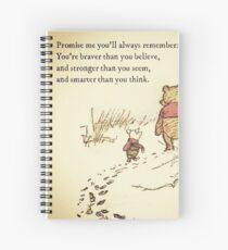 Cuaderno de espiral Eres valiente