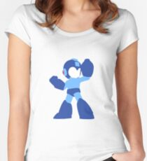 Megaman Vector Women's Fitted Scoop T-Shirt