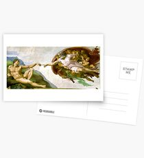 Michelangelo, The Creation of Adam, 1510, Genesis, Ceiling, Sistine Chapel, Rome, Touch of God Postcards