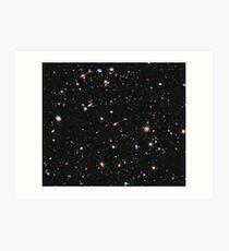 Hubble, COSMOS, Nasa, Extreme Deep Field image, space, constellation, Fornax Art Print