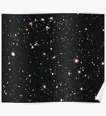 Hubble, COSMOS, Nasa, Extreme Deep Field image, space, constellation, Fornax Poster