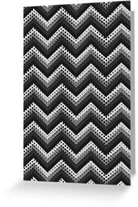 Retro Zig Zag Chevron Pattern by MEDUSA GraphicART