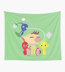 Olimar and Pikmin Vector Wall Tapestry