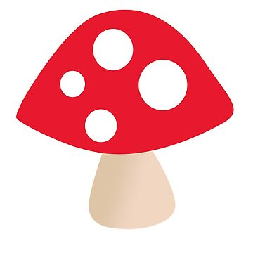 Cute Red Mushroom with White Dots by SnappyBrick