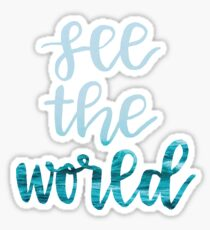 see the world waves Sticker