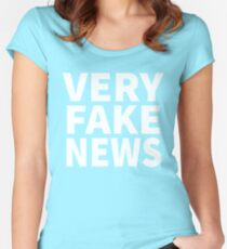 Very Fake News Shirt Women's Fitted Scoop T-Shirt