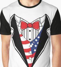 American Flag Tuxedo TShirt Graphic T-Shirt