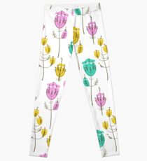 Stylized flowers Leggings