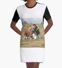 english longhorn Graphic T-Shirt Dress