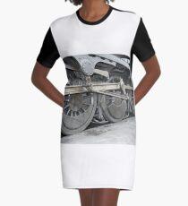 steam train wheels Graphic T-Shirt Dress