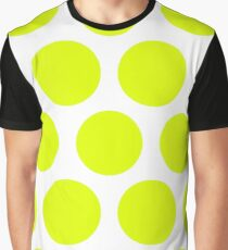 Chartreuse Large Polka Dots (Reverse) Graphic T-Shirt