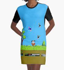 Duck Hunt Retro Video Game Art Nintendo Graphic T-Shirt Dress