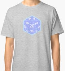 Twenty Sided Dice Pattern in Pastels Classic T-Shirt