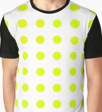 Chartreuse Medium Polka Dots (Reverse) Graphic T-Shirt
