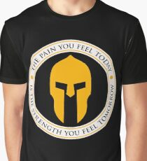 Spartan Workout Motivation Graphic T-Shirt