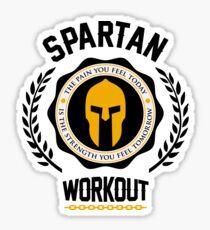 Spartan Workout Motivation Sticker