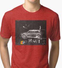 Mini Abstract sketching Tri-blend T-Shirt
