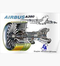 Airbus A 380 GP7000 Motor Poster