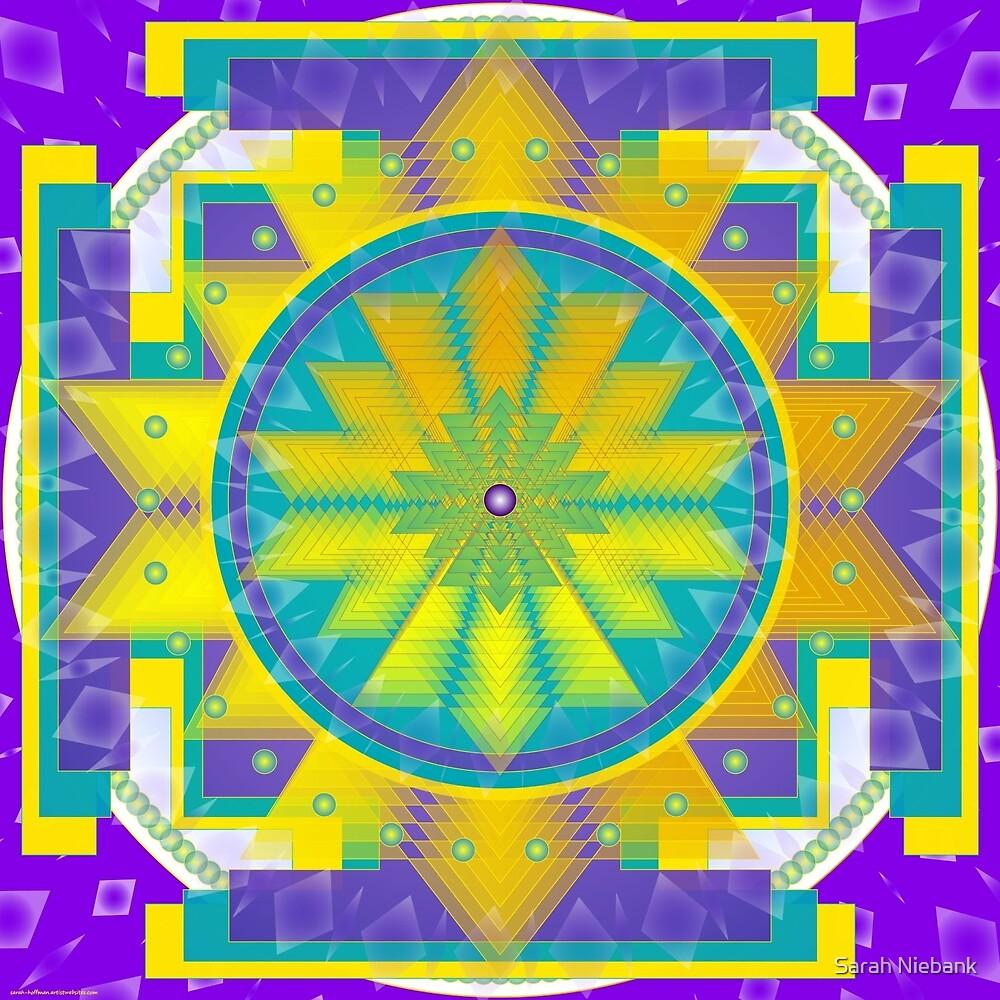Mandala made for the name KAREN by Sarah Niebank