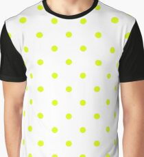 Chartreuse Small Polka Dots (Reverse) Graphic T-Shirt