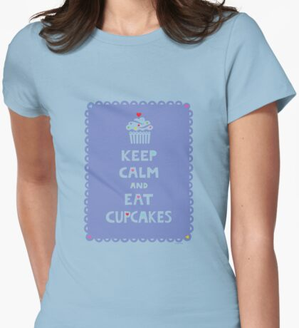 Keep Calm and Eat Cupcakes - frilly T-Shirt