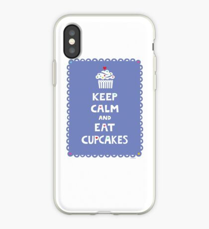 Keep Calm and Eat Cupcakes - frilly iPhone Case
