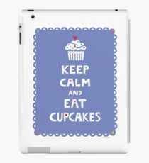 Keep Calm and Eat Cupcakes - frilly iPad Case/Skin