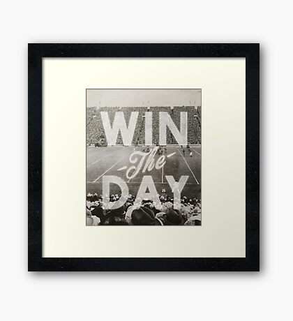 Win The Day Framed Print