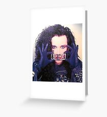 Pete Burns Sex Medalion Greeting Card